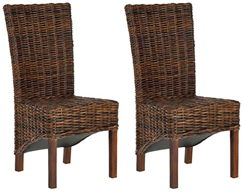 Safavieh FOX6523A-SET2 Home Collection Ridge Croco Color Dining Chair, Set of 2, (Mango Furniture Sets Dining)