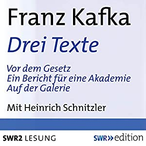 Drei Texte (Vor dem Gesetz / Ein Bericht für einen Akademie / Auf der Galerie) Hörbuch