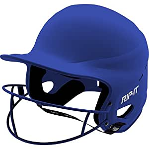 Rip-It Vision Pro Matte Softball Batting Helmet (Matte Royal, Extra Small)