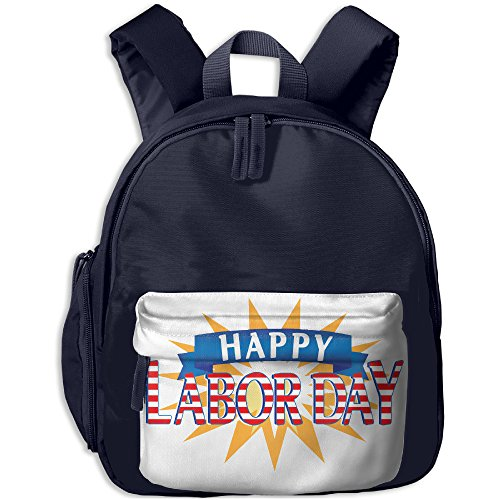 2017 Happy Labor Day School Backpack Casual Lightweight Canvas Backpacks With Pocket For Children