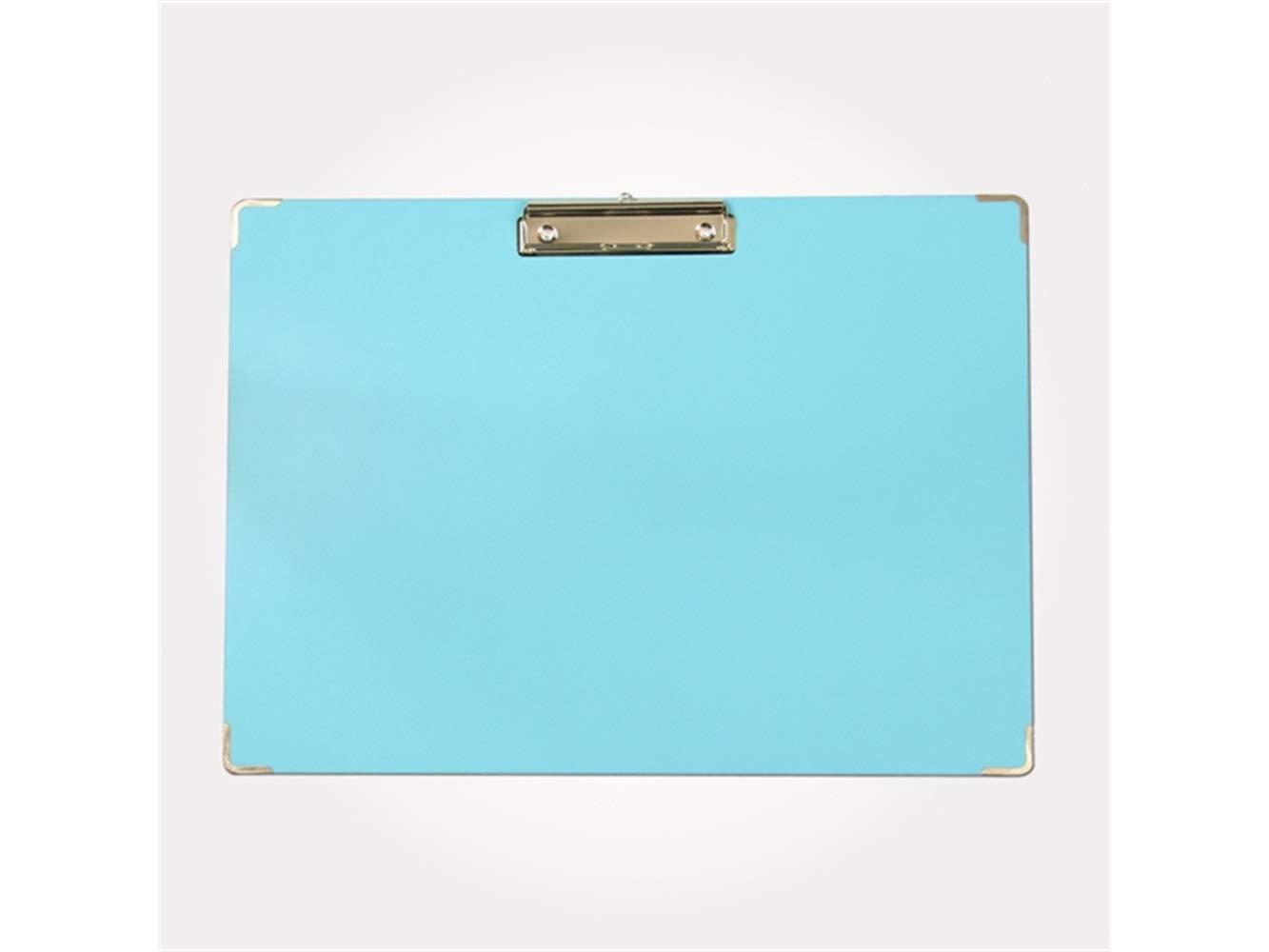 Zhisan Unique Colour A3 Plastic Clipboard Portable Documenta Folders Low Profile Clip (Blue) (Color : Sky-Blue, Size : 43.8x31.5cm)