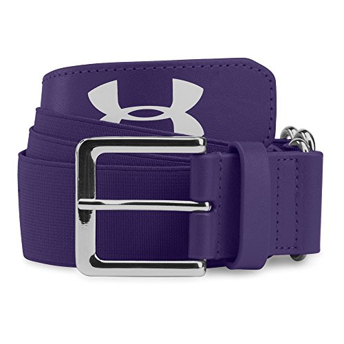 Under Armour Mens Baseball Belt, Purple/Purple, One Size