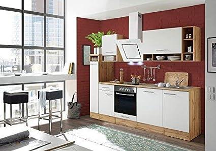 RESPEKTA Cucinino cucina BLOCCO cucina cucina incasso 250 cm QUERCIA ...