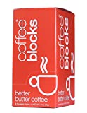 Coffee Blocks Grass Fed Butter and Organic Coconut Oil Coffee, Box of 8 single serve packets