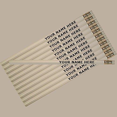 ezpencils - Personalized White Hexagon Pencils - 144 Pencils pkg FREE PERZONALIZATION