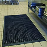 Anti-Fatigue Rubber Floor Mats for Kitchen Bar NEW Indoor Commercial Heavy Duty Drainage Floor Mat Black 36