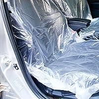 ALEMIN 10 pcs PVC Protecteur Couverture siège Voiture Couvertures Protection de siège jetables Transparents, Garage d'atelier Traction Forte et Chaise de siège Durable, Garder Clair, Anti-Sale