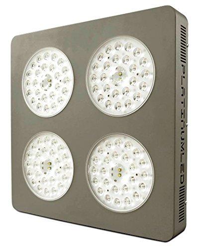 Advanced Platinum Series P4-XML2 380w 12-Band LED Grow Light + CREE 10w XM-L2 w/Dual Veg/Flower Full ()