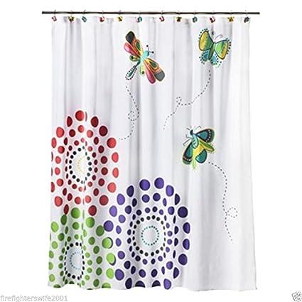Circo Bugs Butterflies Fabric Shower Curtain 72x72 Polyester Nwop