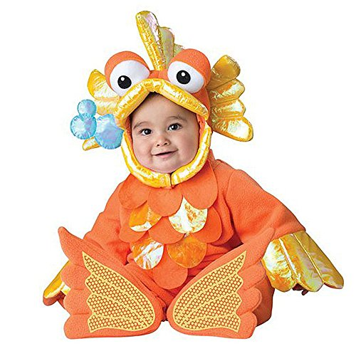 Toddler Baby Infant Aquatic Goldfish Halloween Dress up Outfit Costume -