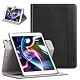 Ztotop Case for iPad 9.7 inch 2017 2018 - [360 Degree Rotating Genuine Leather] with Auto Wake Sleep - Pencil Holder - Hand Strap for New iPad Education - iPad 9.7 2017 - iPad Air 2 - Black