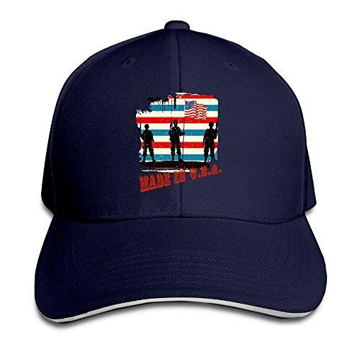 American Soilder Made In USA Sandwish-Like Unisex Baseball Caps Commemorative Edition Graphic Print \r\n100% Cotton Match Cap