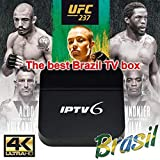 IPTV Brazil Box,HTV 5 Box,2019 a Mais Nova Caixinha Brasileira Com Mais De 250+ Popular 4K Ultra HD Canais Brasileiros