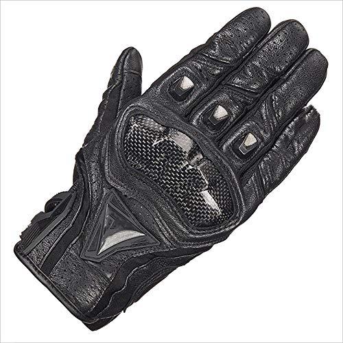 XHHWZB Motorcycle Gloves,Dirt Bike Motocross Motorbike Power Sports Racing Gloves Steel Reinforced Knuckle (Black) (Color : Black, Size : XXL)