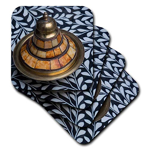 3dRose Danita Delimont - Decor - Morocco. Covered brass bowl with camel bone inlay on stone inlay table - set of 8 Ceramic Tile Coasters ()