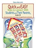 img - for Quick and Easy Ways to Connect with Students and Their Parents, Grades K-8: Improving Student Achievement Through Parent Involvement by Diane Mierzwik (2016-04-26) book / textbook / text book