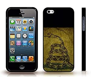 iStar Cases? iPhone 4 Case with Dont Tread On Me With Snake , Snap-on Cover, Hard Carrying Case (Black)
