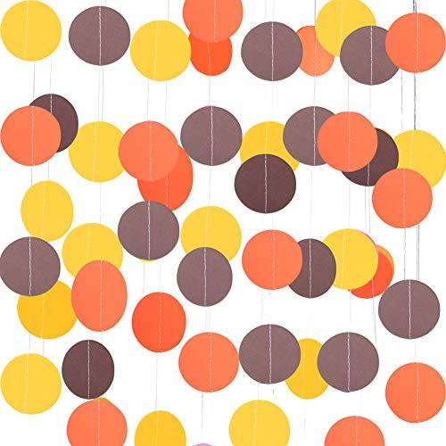 Thanksgiving Decoration Yellow Orange Brown Garland Hanging Supplies
