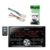Pioneer Vehicle Digital Media 2DIN Receiver with Bluetooth Enhanced Audio Functions, Black with Metra Toyota DDIN Multi Dash Kit and Metra Radio Wiring Harness For Toyota 87-Up Power 4 Speaker