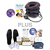 DR-HO'S® Neck Comforter™ - Deluxe Package (Includes BONUS DR-HO'S Pain Therapy System, 8 Small Massage Pads, 2 Large Flex Tone Pads, Circulation Boosting Foot Massage Pads, Spinal Secrets DVD, Pain Relief Book & Travel Bag)