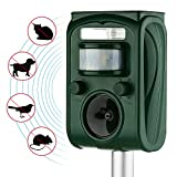 AUTSCA Ultrasonic Animal Repeller Solar Power Animal & Pest Repellent, Cat Repellent, Dog Repellent, Deer Repellent, Mice Repellent, Bird Repellent