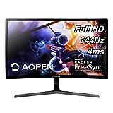 AOPEN 24HC1QR Pbidpx 23.6-inch 1800R Curved Full HD (1920 x 1080) Monitor with AMD Radeon FreeSync Technology (Display, HDMI & DVI Ports)
