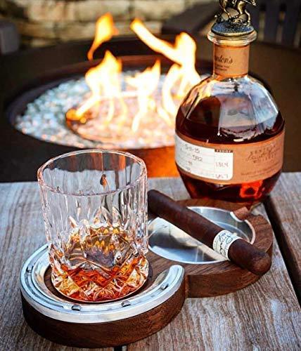 Black Walnut Kentucky Double Cigar Ashtray Coaster - Cigar Double