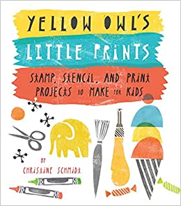 yellow owl s little prints stamp stencil and print projects to