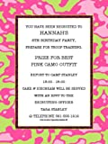 Pink and Green Camo Invitations
