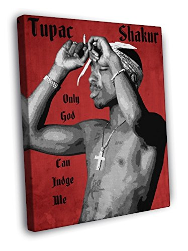 2Pac Tupac Amaru Shakur Awesome Vintage Art Retro Painting Rap Hip Hop Music Rapper 40X30 Framed Canvas Print