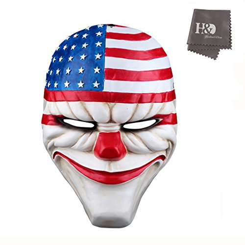 YUFENG Payday2 The Heist Stars & Stripes Clown