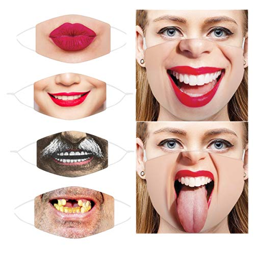 6 PCS Halloween Women Men Face Masskcs Sand Exhaust Sunscreen Funny Face Scarf Breathable Cycling Covvers for Adults  Price: $17.99