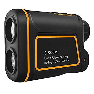 Laser Rangefinder, Zamkol 1000 yards Golf Rangefinder,IP54 Laser Binoculars For Hunting,Multi-Function Hunting Rangefinder with Speed/Vertical Height/Angle/Horizontal Distance Measurement (C) from Innermost