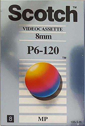 Scotch Video Cassette, 8mm, P6-120 MP, Metal Particle by Scotch