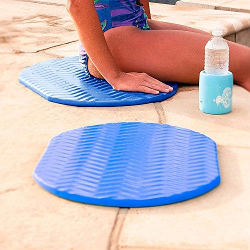 (Texas Recreation Super Soft Oval Foam Cushion, Blue 2-Pack)