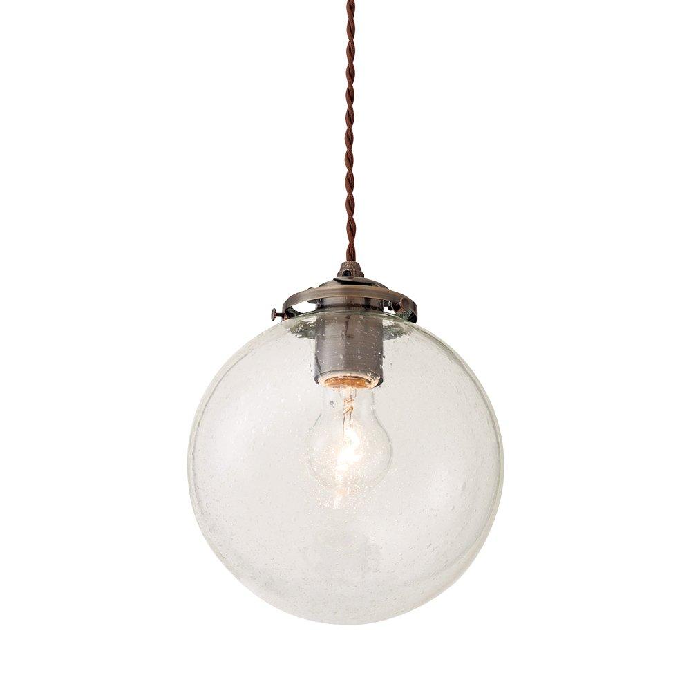 ペンダントライト 1灯 電球別売 Orelia(L) - オレリアL - 擦りガラス LT-1944FR インターフォルム(INTERFORM) B01M1SVWE0 擦りガラス|電球別売 擦りガラス