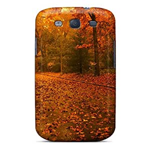 Galaxy Cover Case - Fall Maple Leaves Autumn Protective Case Compatibel With Galaxy S3