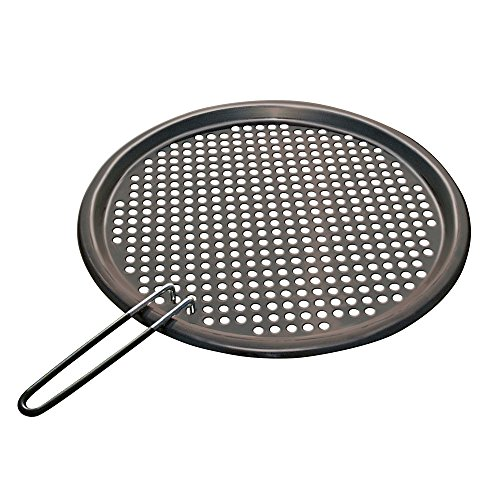 Magma Fish & Veggie Grill Tray S.S. w/Non-Stick - 13-3/4'' Round by Magma