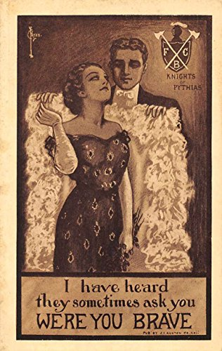 Knights of Pythias Fraternal Organization Romance Antique Postcard J76272