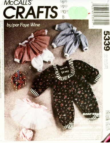McCall's Crafts Bunny Wraps, Clothes for Country Rabbit Dolls Sewing Pattern #5339 (Doll Pattern Country)
