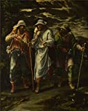 The polyster Canvas of oil painting 'Lelio Orsi The Walk to Emmaus ' ,size: 18 x 23 inch / 46 x 58 cm ,this Reproductions Art Decorative Prints on Canvas is fit for Hallway decor and Home artwork and Gifts