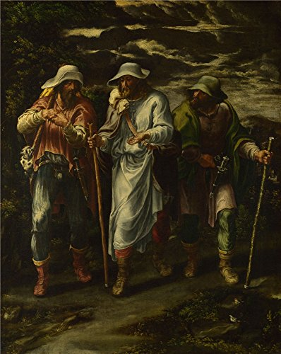 [The High Quality Polyster Canvas Of Oil Painting 'Lelio Orsi The Walk To Emmaus ' ,size: 10 X 13 Inch / 25 X 32 Cm ,this Beautiful Art Decorative Canvas Prints Is Fit For Nursery Decor And Home Decor And] (Chicago The Musical Costume Ideas)