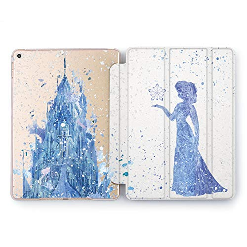Wonder Wild Frozen Castle Hard Case Apple iPad 5th 6th Generation Mini 1 2 3 4 Air 2 Watercolor Tablet Pro 10.5 12.9 2018 2017 9.7 inch Cover Cartoon Girly Kids Smart Shell Anna Sisters Elsa Disney -