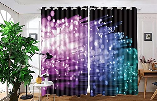 vanfan 2 Panel Set Digital Printed Blackout Window Curtains for Bedroom Living Room Dining Room Kids Youth Room Window Drapes(W108x L90