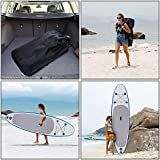 Utheing Allaround Inflatable Single-layer Surfboard with Adjustable Paddle Sup Inflatable Boards Includes Hand Air Pump, Foot Ring, Backpack, Repair Kit