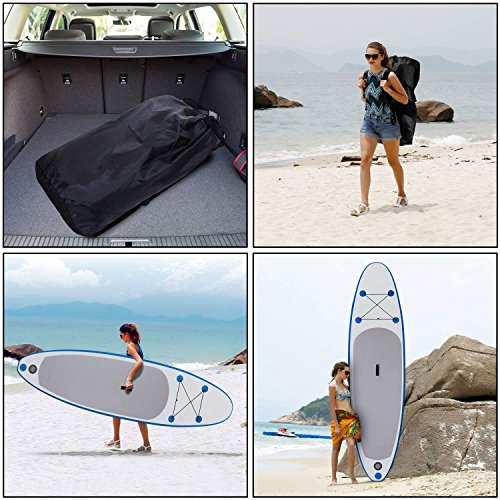 Utheing Allaround Inflatable Single-layer Surfboard with Adjustable Paddle Sup Inflatable Boards Includes Hand Air Pump, Foot Ring, Backpack, Repair Kit by Utheing