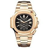 PATEK PHILIPPE NAUTILUS 40MM ROSE GOLD MEN'S WATCH 5980/1R-001 UNWORN