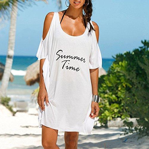 iBaste bao Freddezza Beachwear Estate Bianca da Bikini spiaggia Coprire allentata Donne ddwXrq
