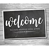 Katie Doodle WD100 Welcome Sign, 12x18 inches, Black (Chalkboard Style)