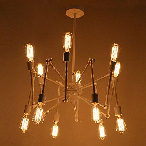Industrial Adjustable Vintage Metal Chandelier with 12 Lights - LITFAD 40
